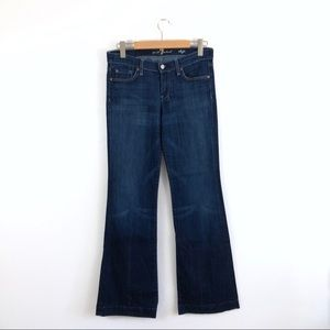 7 For All Mankind 7FAM Blue Dojo Flare Jeans